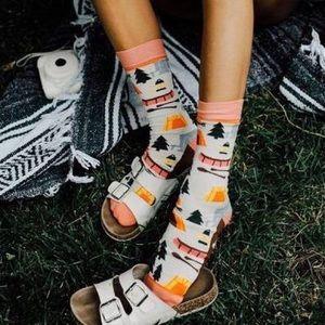 🆕 Happy Camper Crew Socks